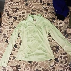 Mint colored 1/4 Zip Athletic Top